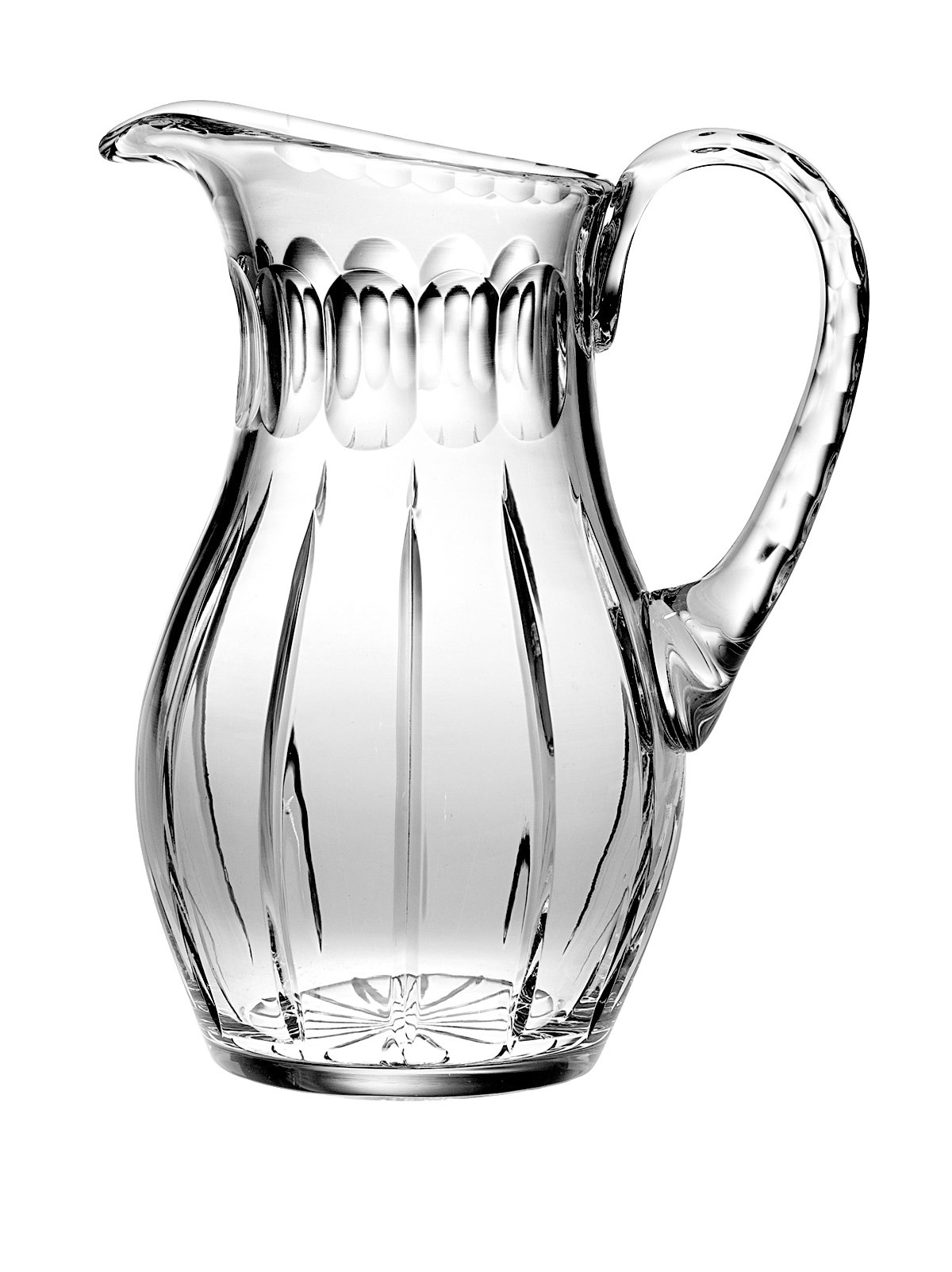 Barski - Hand Cut - Mouth Blown - Crystal Pitcher - 52oz. - 10.25'' height - Made in Europe