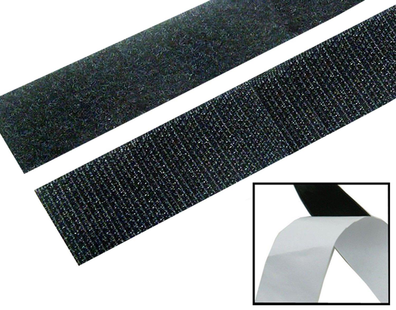 DNF 粘着面ファスナー/粘着テープファスナー 5ヤード (15フィート) 1インチ ブラック   B01ETQK56E