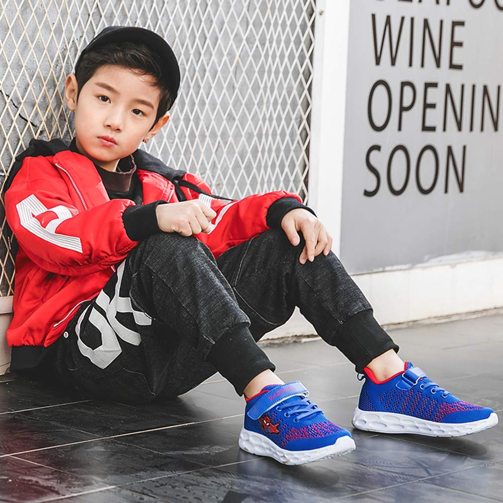 ANKIDS Fashion Kids Boys Girls Flying Woven mesh Spider-Man Sneakers