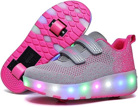 Unisex Led Luz Automática de Skate Zapatillas Zapatos USB Cargando Zapatos Patines Deporte Gimnasia Running Zapatillas con Ruedas Zapatillas con Dos Ruedas para niños y niña 30 EU: Amazon.es: Hogar