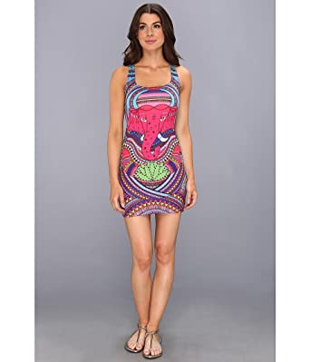 280fccaee1 Amazon.com: Mara Hoffman Racerback Fitted Cover-up Mini Dress: Clothing