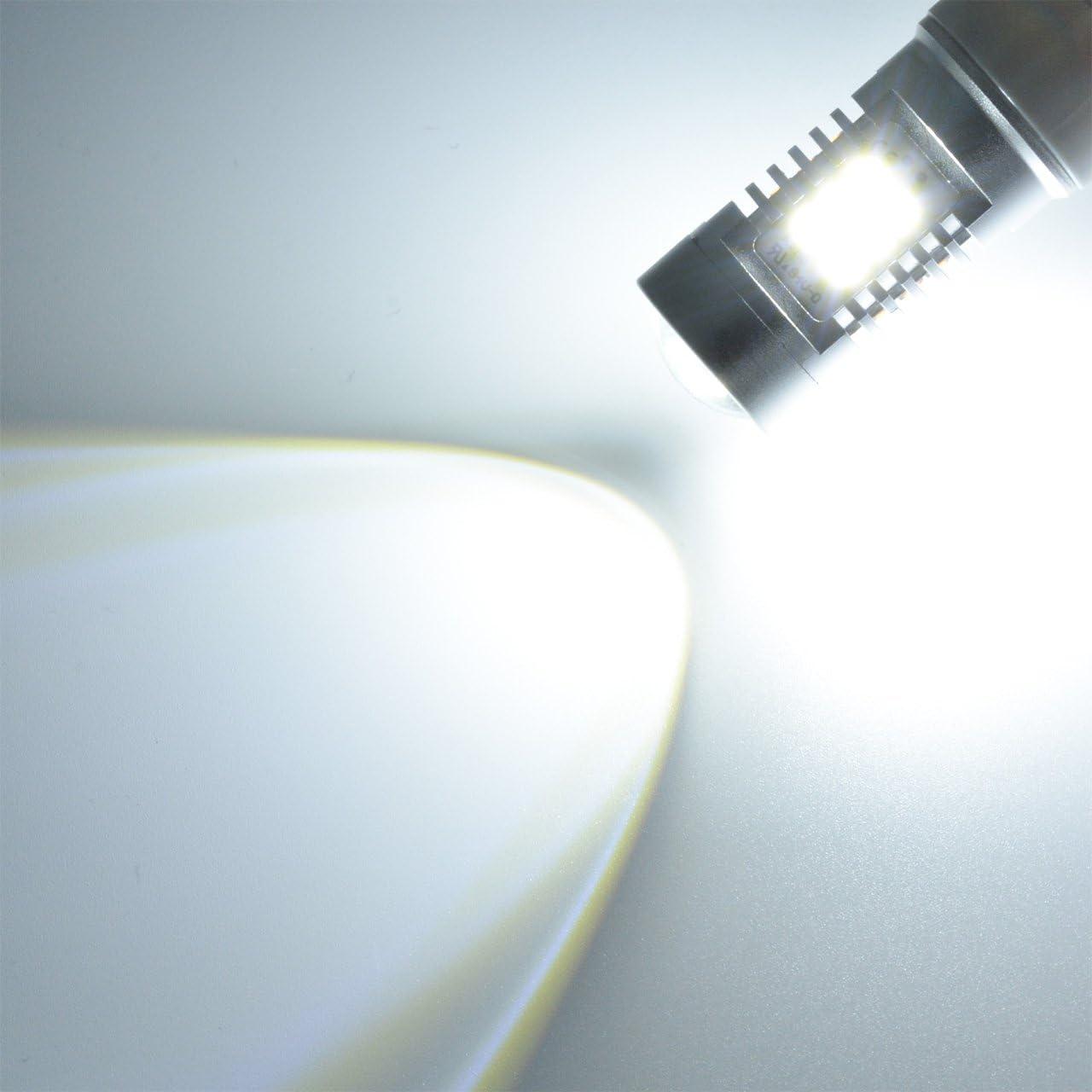 TUINCYN 1157 Bombillas LED Blanco Canbus Libre de Error BAY15D 1016 1034 3496 7528 1196 2835 21 SMD LED Auto Turn Siganls Luz Luz de Freno Copia de Seguridad Reverso L/ámpara de cola Pack de 2