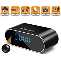 HOSUKU Hidden Spy Camera Wireless WiFi Hidden Camera 1080P Clock Hidden Cameras for Home Security Monitor Video Recorder Nanny Cam 140 Angle Night Vision Motion Detection No Audio