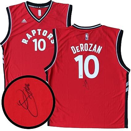 best service cea5e 0340d Frameworth DeMar DeRozan Signed Toronto Raptors Replica ...