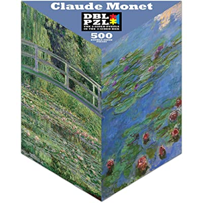 Claude Monet - 500pc Double-Sided Jigsaw Puzzle by Pigment & Hue: Toys & Games