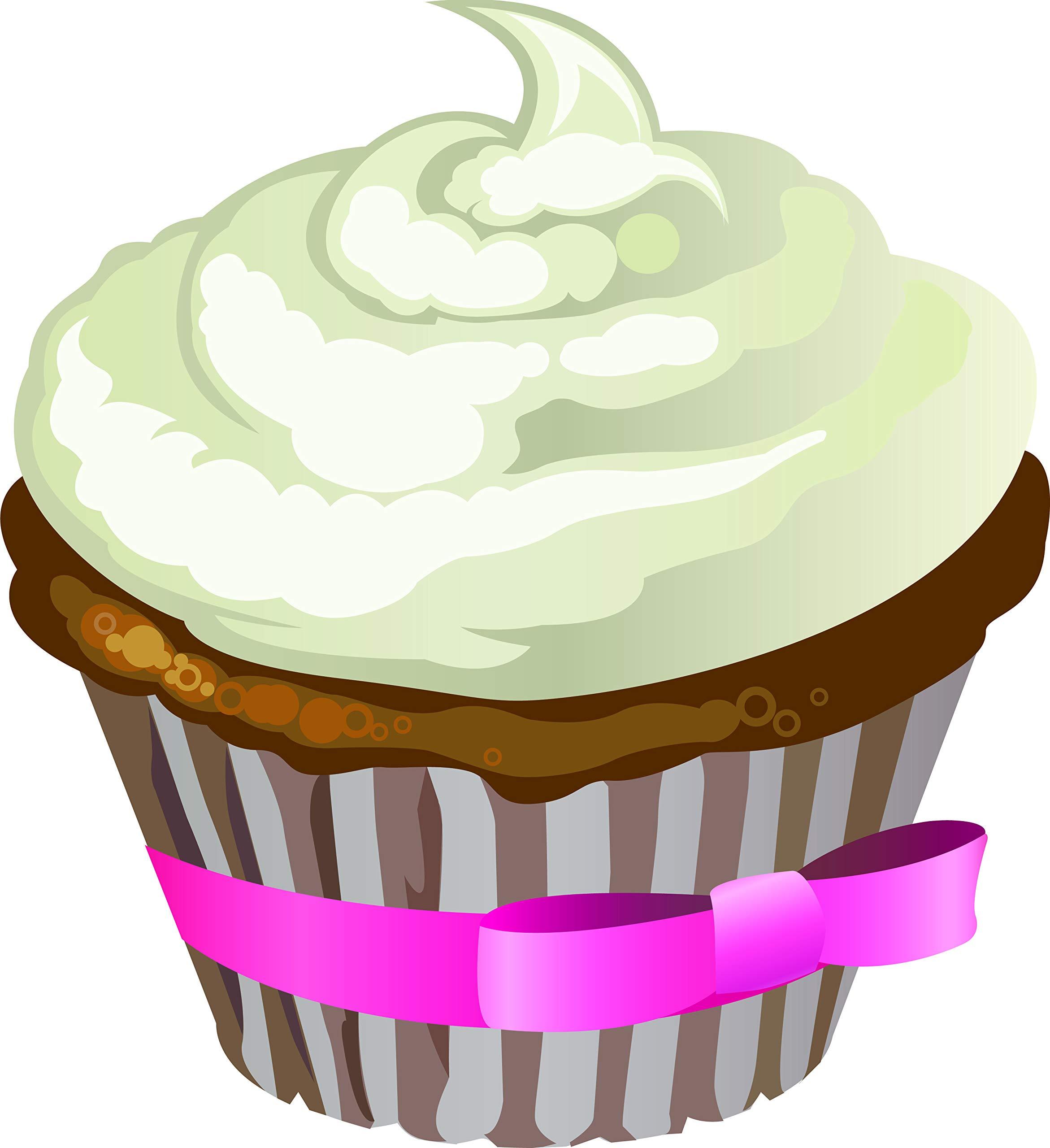 Delicious Desserts Sweets Bakeshop Bakery Cartoon Vinyl Sticker, Cupcake by Shinobi Stickers