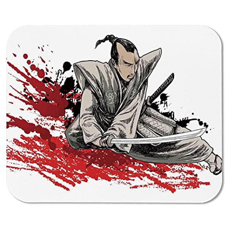Amazon.com : Japanese Personalized Mouse Pad, Warrior ...