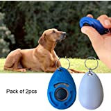 2 PCS Water Drop Shaped Dog Training Clicker Wrist Strip with Button Dog Training System By Bseen