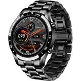 """LIGE Smart Watch for Android iOS, Bluetooth Calls Voice Chat with Heart Rate/Sleep Monitor Fitness Tracker, 1.3"""" Full Touch S"""