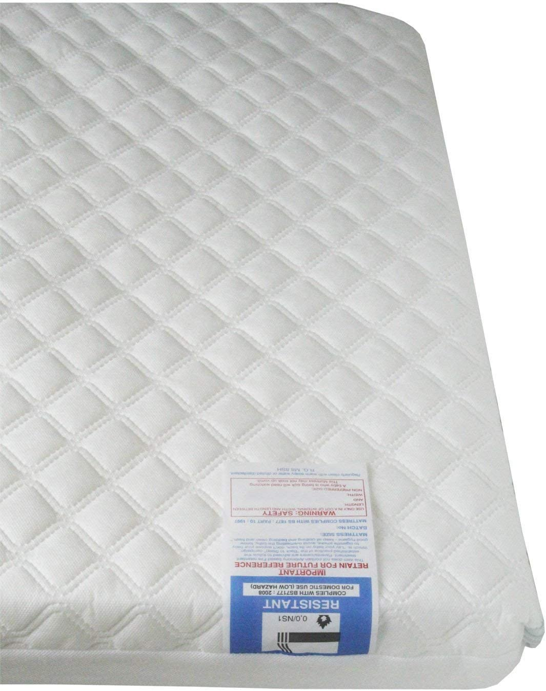 Baby Toddler Cot Bed Breathable QUILTED Foam Mattress 118 x 56 x 13 cm
