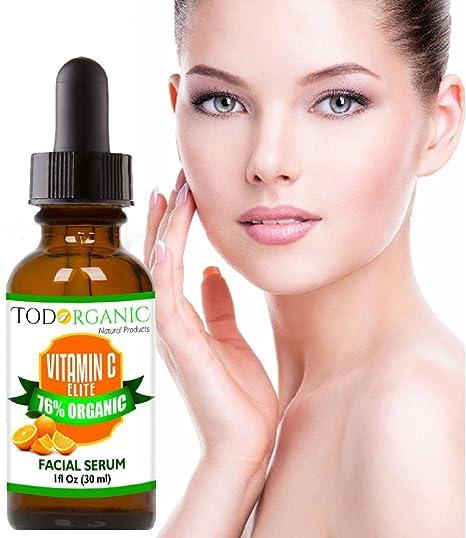 Amazon.com: Vitamina C Suero de Belleza con Argán Orgánico, Acido Hialurónico, Reparación de las Ojeras, 1 oz. Líneas Finas Faciales, Antienvejecimiento, ...
