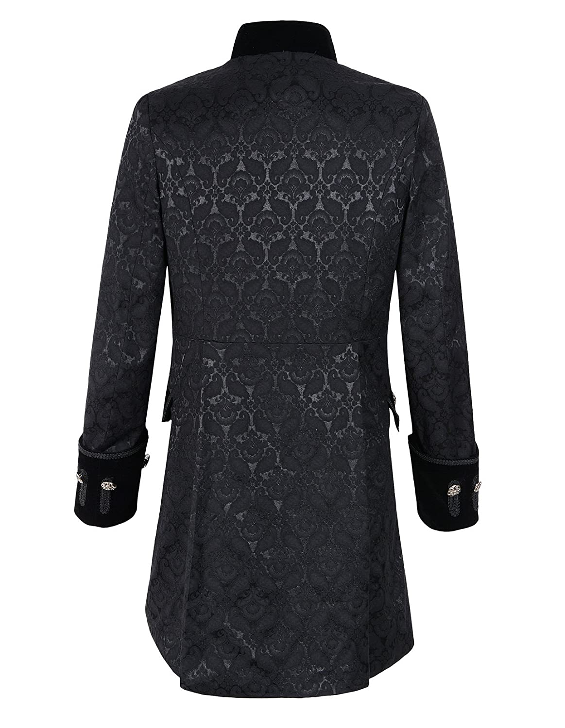 DarcChic Mens Velvet Goth Steampunk Victorian Frock Coat At Amazon Clothing Store