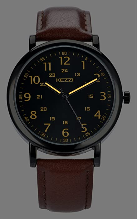 95c53e070 DOVODA Watches for Men Casual Classy Quartz Analog Leather Watch ...