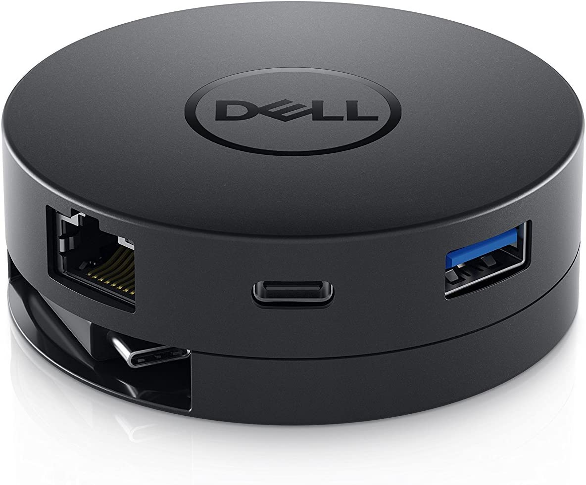 New Dell Mobile USB-C DA300 to HDMI/VGA/Ethernet/USB 4K Adapter Compatible with Latitude 7390 7389 XPS 13 9370 13 9365 XPS 9575 9570