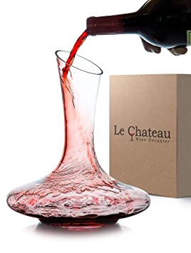 e742a50bd5e6 Le Chateau Wine Decanter - 100% Hand Blown Lead-free Crystal Glass ...