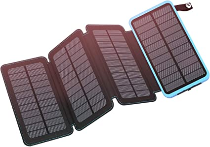 Amazon.com: SEELLE - Cargador solar de 2500 mAh, con 4 ...