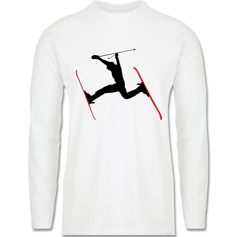 Wintersport - Skifahren Skisprung Ski - Longsleeve / langärmeliges T-Shirt für Herren