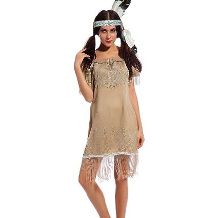 Maboobie Disfraz De India Americana Princesa Para Mujer Adulto - Disfraz-india-americana
