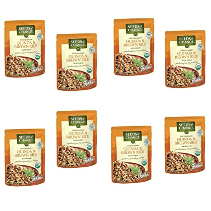 Semillas del cambio Quinoa y Arroz con ajo, 8.5 onza (Pack ...