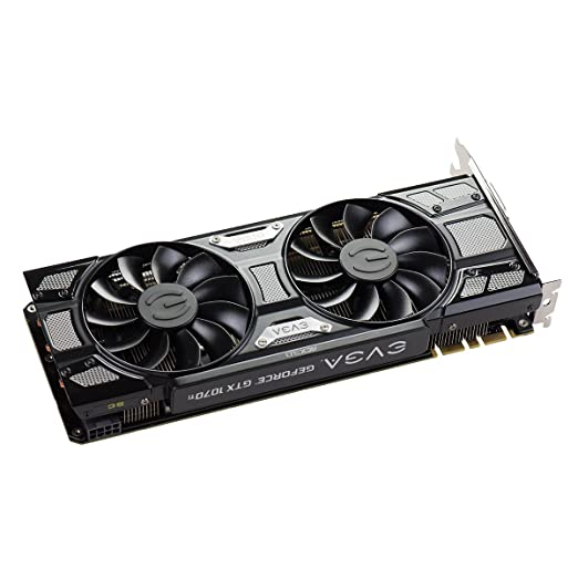 EVGA GeForce GTX 1070 Ti SC GAMING ACX 3.0 Black Edition, 8GB GDDR5, EVGA OCX Scanner OC, White LED, DX12OSD Support (PXOC) Graphics Card ...