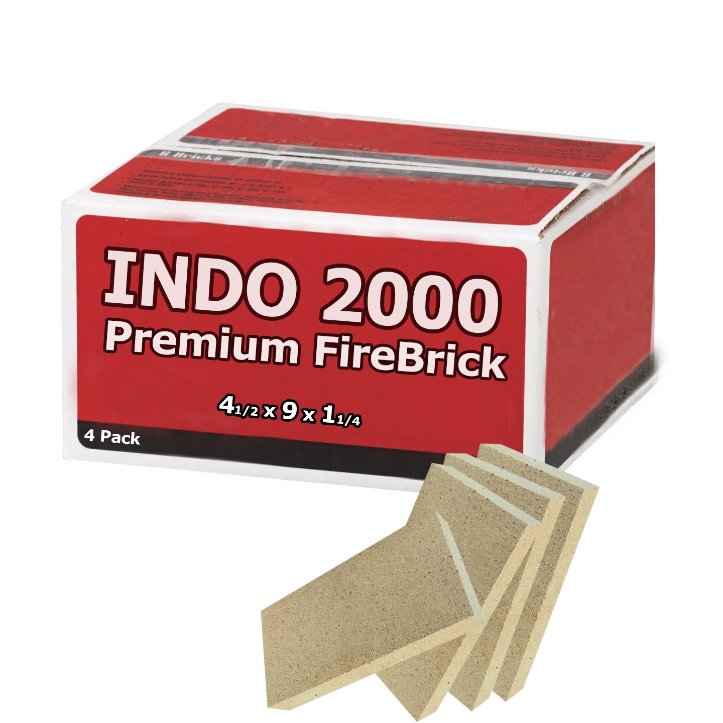 Fire Brick Kit of 4 perfect for fire pits, pizza ovens, and stoves