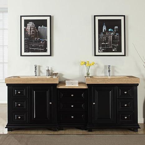 Amazoncom Silkroad Exclusive V0285tr90d Bathroom Double Vanity