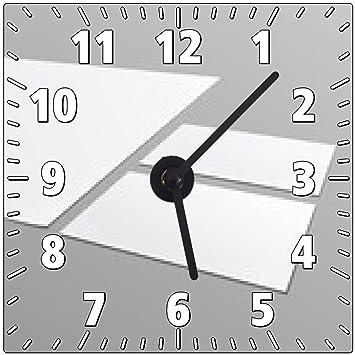 Horloge Murale Modele Vierge De Papeterie Papier A4 Carte Visite