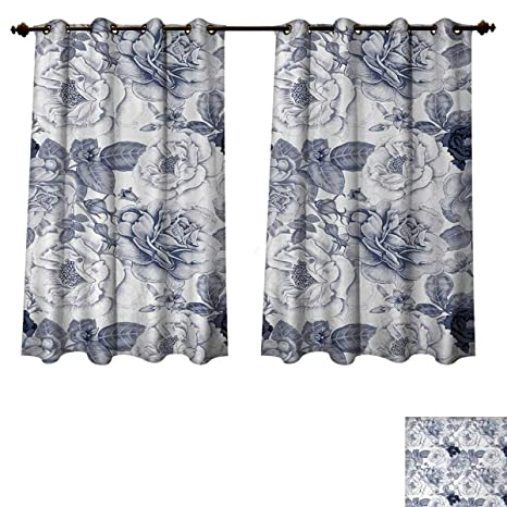 Peachy Amazon Com Anzhouqux Shabby Chic Blackout Curtains Panels Beutiful Home Inspiration Papxelindsey Bellcom