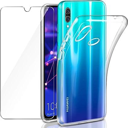 Leathlux Funda + Protector de Pantalla para Huawei P Smart 2019 ...