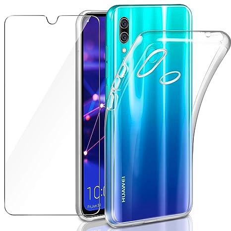 coque bleu transparente huawei p smart
