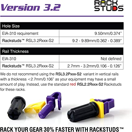 Rackstuds P20 Rack Mount Solution Series II The Easiest and No More Cage Nuts