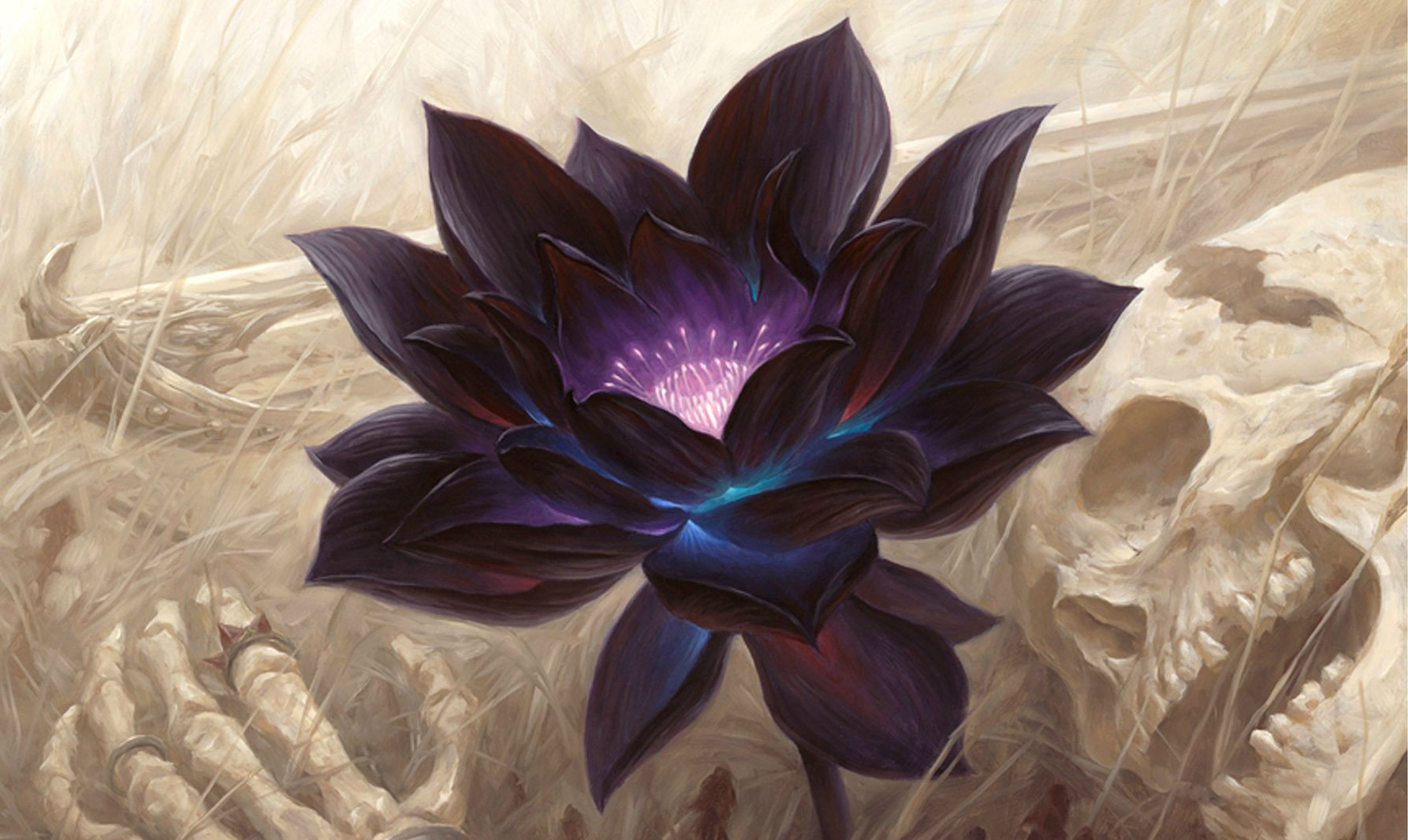 Black Lotus Playmat 24 x 14 inch Mousepad for Yugioh Pokemon Magic the Gathering