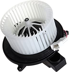 SCITOO ABS Plastic Heater Blower Motor w/Fan HVAC Resistors Blowers Motors Replacement fit for 2007-2011 for Dodge Nitro/ 2008-2012 for Jeep Liberty Front