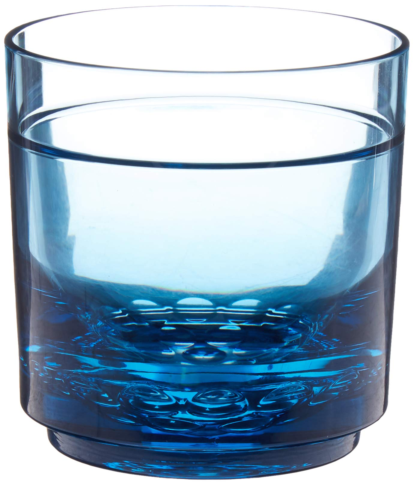 Drinique ELT-RK-BLU-24 Elite Rocks Unbreakable Tritan Whiskey Glasses, 10 oz (Case of 24), Blue