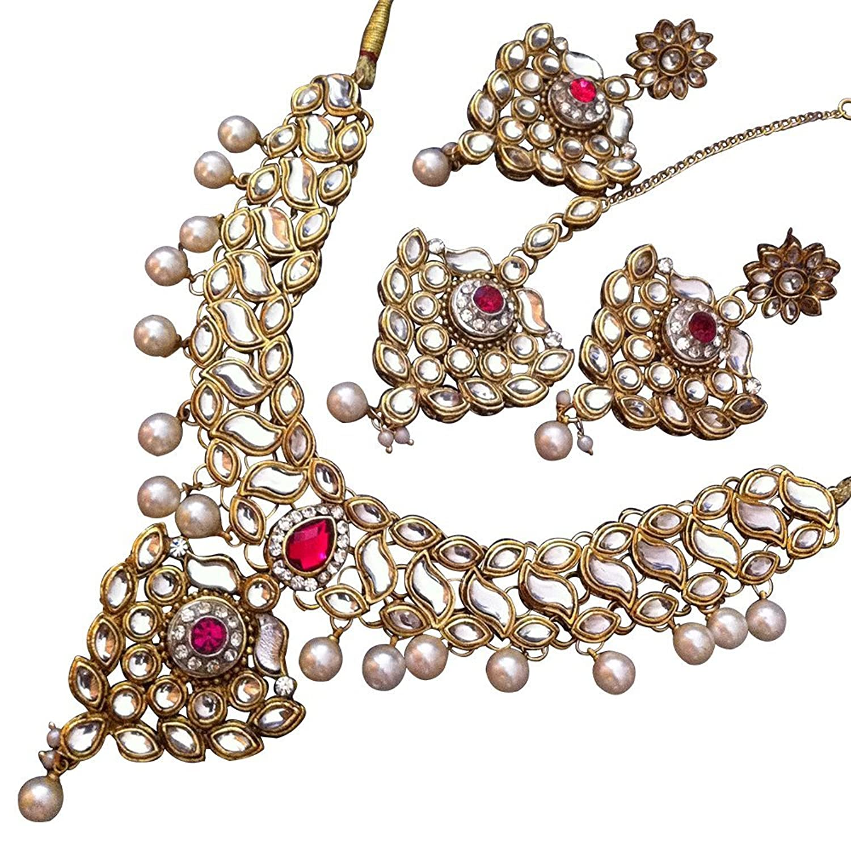 Buy Bridal kundans jewellery sets for wedding jewelleries for ...