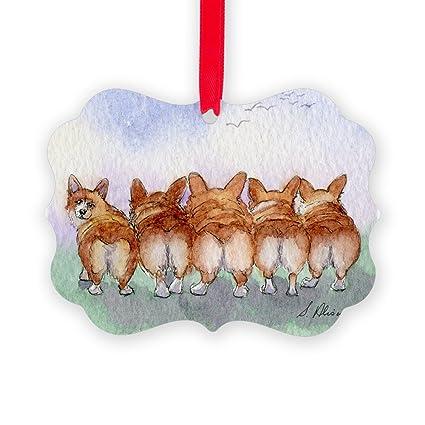 CafePress - Five Corgi Butts Ornament - Christmas Ornament, Decorative Tree Ornament