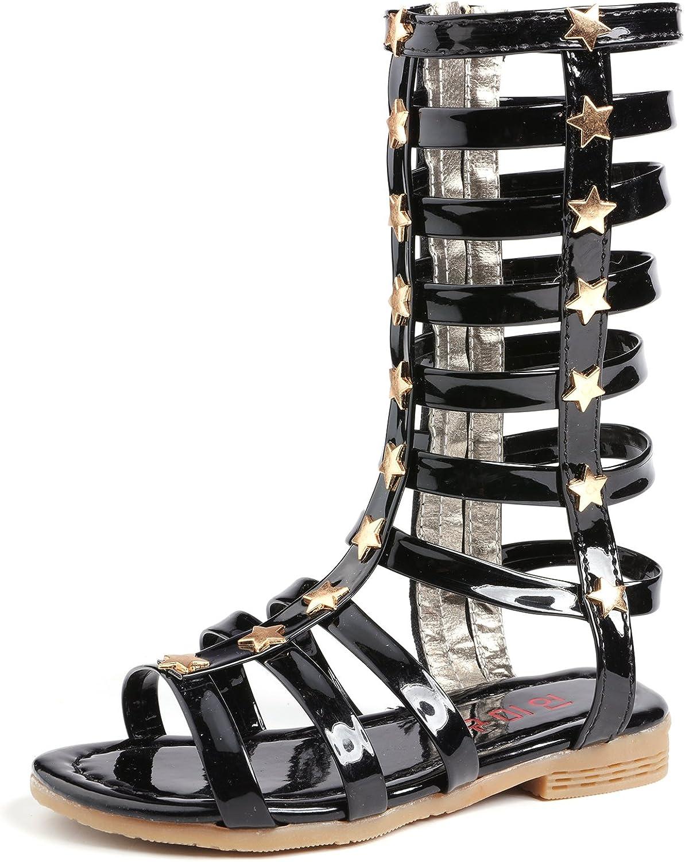 2020 Summer Kids Girls Fladiator Sandals Flat Sole Children Princess Sandals
