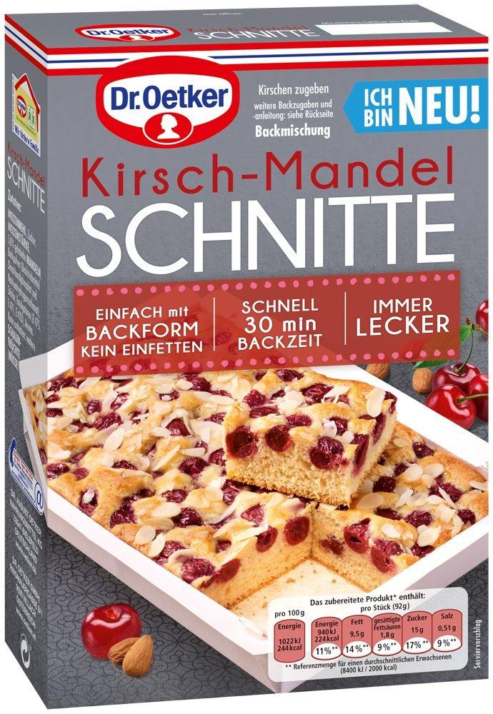 Dr Oetker Kirsch Mandel Schnitte 8er Pack 8 X 325 G Amazon De