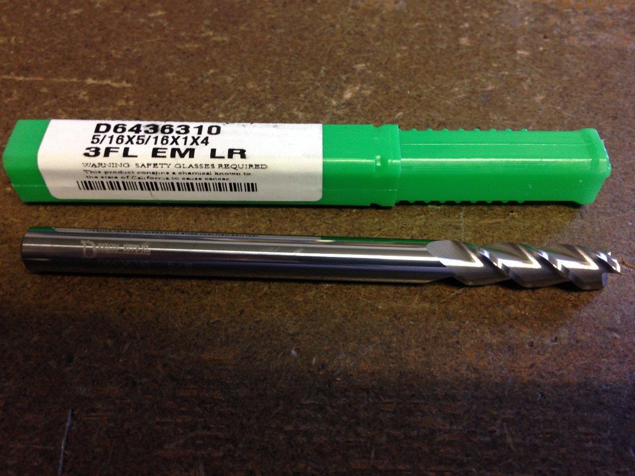 .3125'' 5/16'' 3 Flute Long Length Carbide END Mill 5/16'' x 5/16'' x 1'' x 4'' by DESIGN-RITE