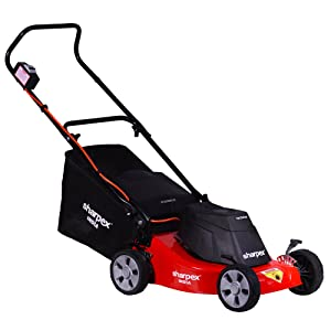 Sharpex Electric Lawn Mower with Grass Catcher (16 inch, Multicolour)