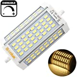 Lampada led r7s lineare 118mm 30w 300w bianco caldo con for Alogena r7s led