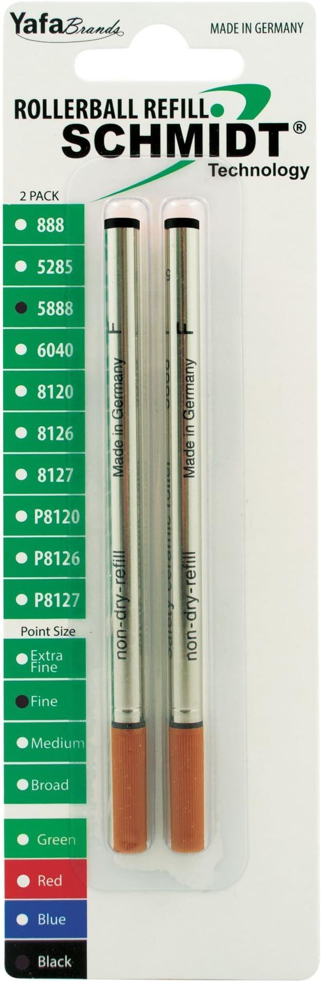 BROAD 6- SCHMIDT NEW- Soft Touch BLACK Roller Ball Refill 1.0 5888
