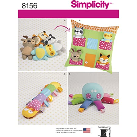 Simplicity Pattern 8156 Stuffed Animals With Pillow House And Toys