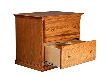 Forest Designs Traditional Golden Oak Lateral File Cabinet, 35u0026quot; W X  30u0026quot; H