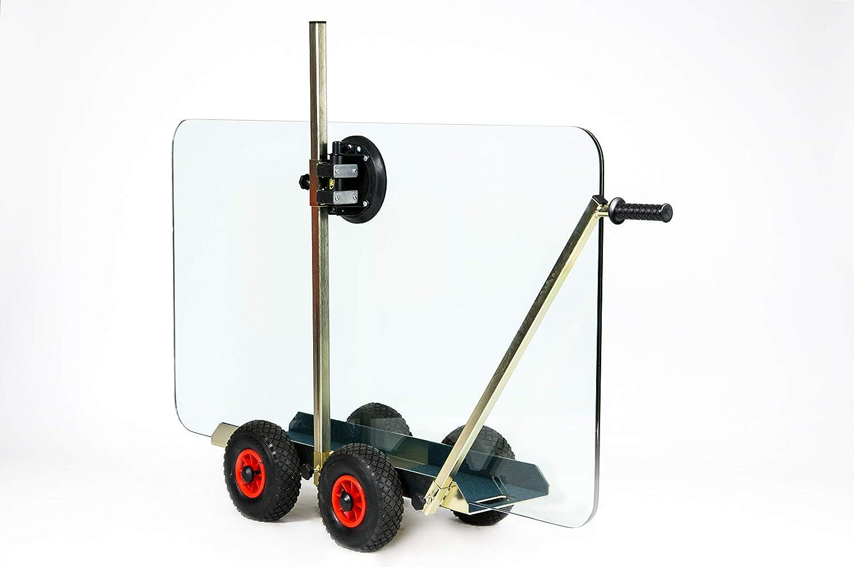 TS 250 Air Tandem - Carro de transporte de vidrio con aspirador de mano Powr-Grip, hasta 250 kg de capacidad de carga, carro de transporte, ayuda para transporte, para discos de cristal: