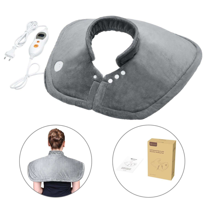 MARNUR Almohadilla ElectricaparaCuelloHombros Espalda con Función de Terapia de Calentamiento Rápido Lavable