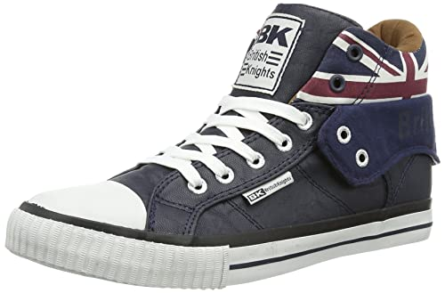 British Knights ROCO UNION JACK, Unisex Adults Hi-Top Sneakers, Blue (navy