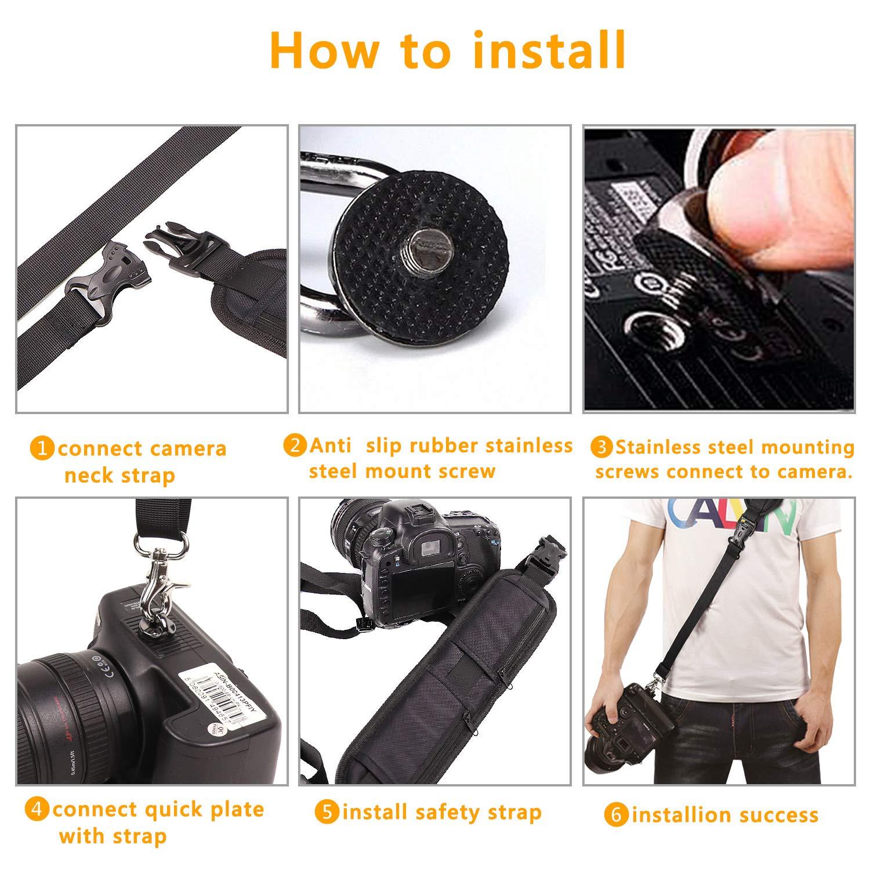 Acouto Camera Hanger 1//4in Screw Mount Quick Release Waist Belt Buckle Holder for DSLR Cameras Canon Nikon Olympus Pentax Fujifilm