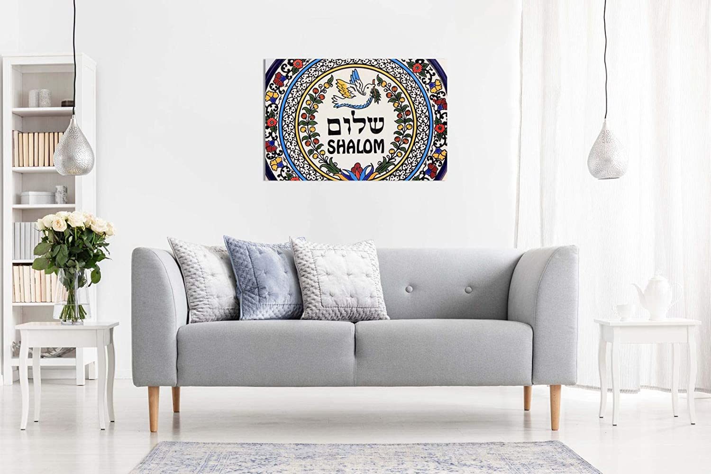 A0 91x61cm 36x24in Shalom H/ébreu Juif /œil Impression sur toile murale Art Picture