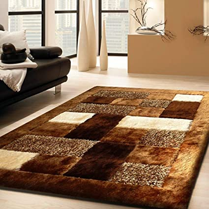 Global Home Polyester Floor Carpet Mat (20*32 Inch, Brown)